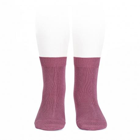 Chaussettes courtes unies basiques CASSIS