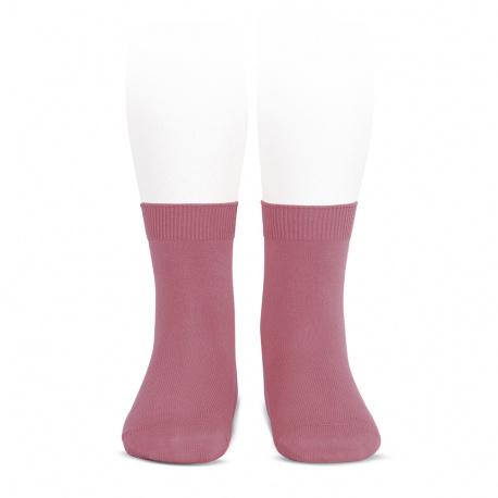 Plain stitch basic short socks TAMARISK