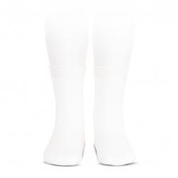 Chaussettes coton elastique BLANC