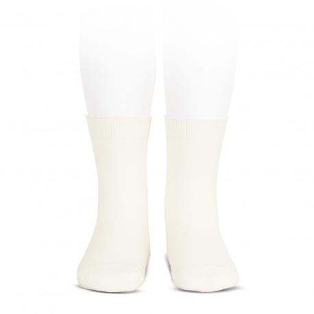 Elastic cotton short socks BEIGE