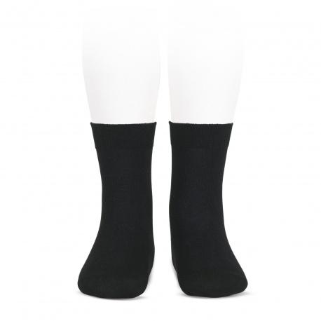 Chaussettes coton elastique NOIR