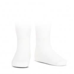 Elastic cotton ankle socks WHITE