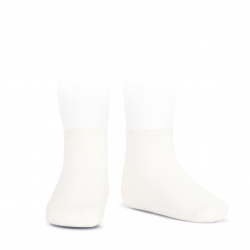 Elastic cotton ankle socks CREAM