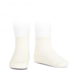 Socquettes point lis coton élastique ECRU