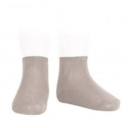 Calcetines tobilleros algodón elástico PIEDRA