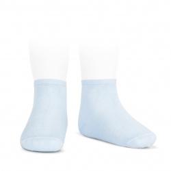 Calcetines tobilleros algodón elástico AZUL BEBE