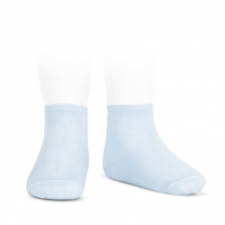 Elastic cotton ankle socks BABY BLUE