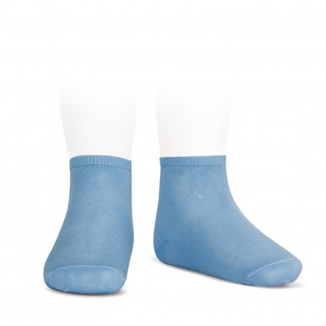 Socquettes point lis coton élastique BLEUTE