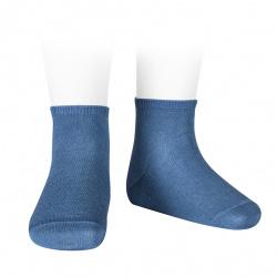 Calcetines tobilleros algodón elástico AZUL FRANCIA