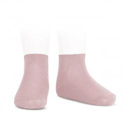 Elastic cotton ankle socks PALE PINK