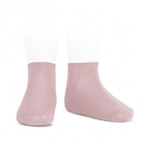 Socquettes point lis coton élastique PALE ROSE