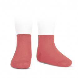 Elastic cotton ankle socks CORALLINE