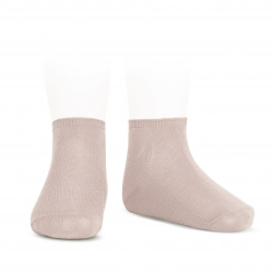 Elastic cotton ankle socks OLD ROSE