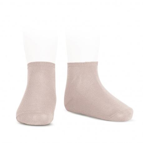 Calcetines tobilleros algodón elástico ROSA EMPOLVADO