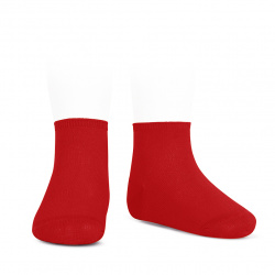 Elastic cotton ankle socks RED