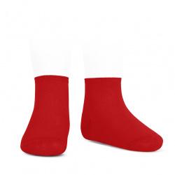 Socquettes point lis coton élastique ROUGE