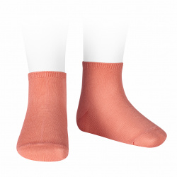 Elastic cotton ankle socks PEONY