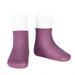 Socquettes point lis coton élastique CASSIS