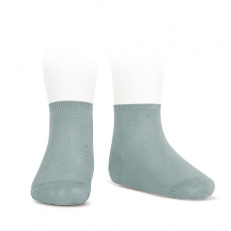 Socquettes point lis coton élastique VERT SEC