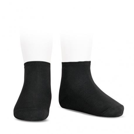 Calcetines tobilleros algodón elástico NEGRO