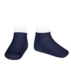 Elastic cotton trainer socks NAVY BLUE