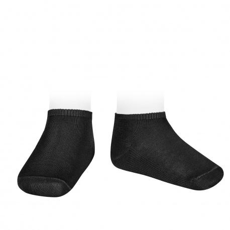 Calcetines invisibles algodón elástico NEGRO