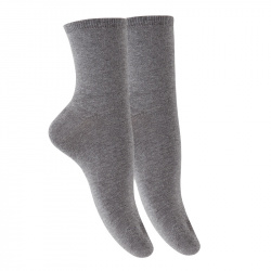 Woman plain stitch short socks