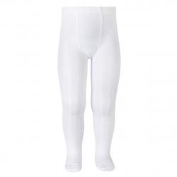 Openwork fancy tights WHITE