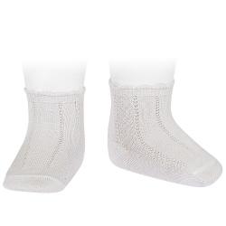 Pattern short socks CREAM