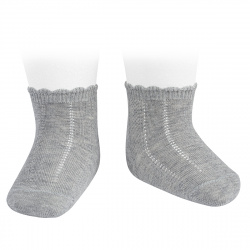 Pattern short socks ALUMINIUM