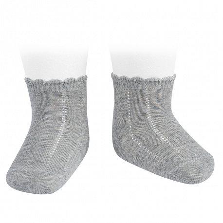 Calcetines cortos labrados ALUMINIO