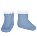 Pattern short socks BLUISH