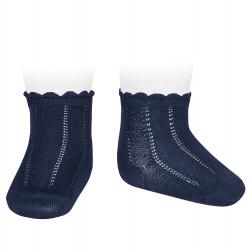Calcetines cortos labrados MARINO