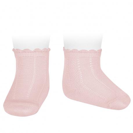 Calcetines cortos labrados ROSA