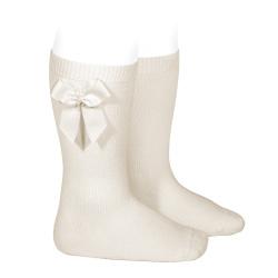 Chaussettes hautes coton avec noeud latéral LIN