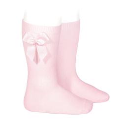 Calcetines altos algodón con lazo lateral ROSA