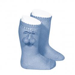Chaussettes hautes avec pompoms BLEUTE