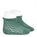 Calcetines cortos de perlé calado red CEDRO
