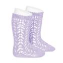 Calcetines altos algodón calado MALVA