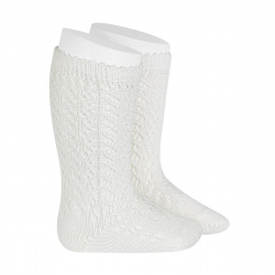 Calcetines altos algodón calado NATA