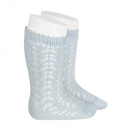 Calcetines altos algodón calado PERLADO