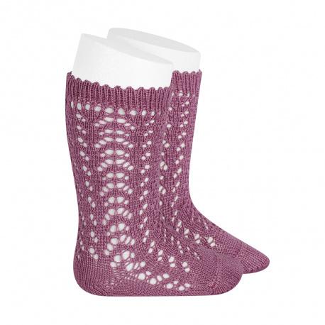 Calcetines altos algodón calado CASSIS