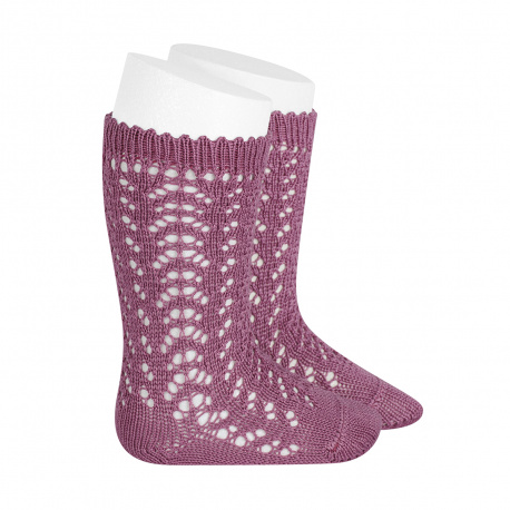 Cotton openwork knee-high socks CASSIS