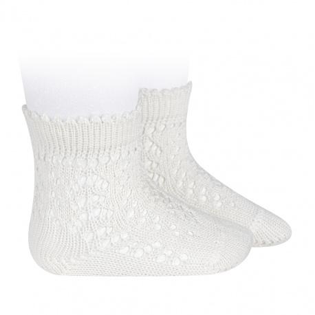 Calcetines cortos de perlé calados NATA