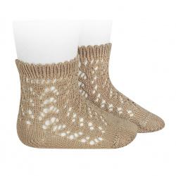Calcetines cortos de perlé calados CUERDA
