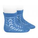 Calcetines cortos de perlé calados MAYA