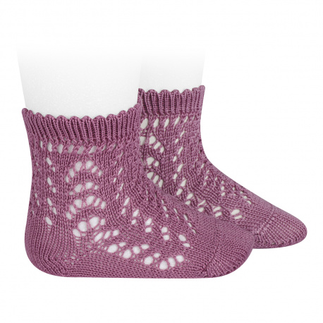 Cotton openwork short socks CASSIS