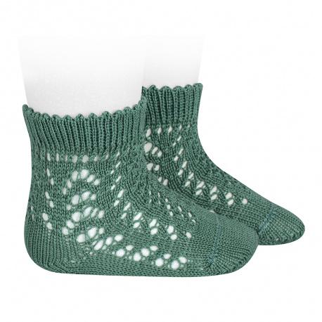 Calcetines cortos de perlé calados CEDRO