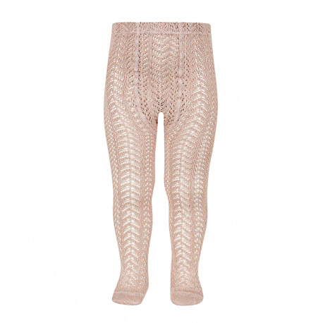 Perle openwork tights OLD ROSE
