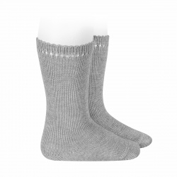 Perle knee high socks ALUMINIUM